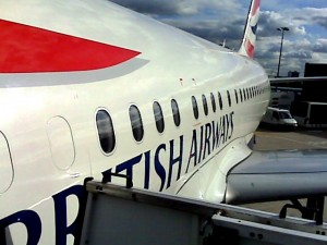 About to board BA001