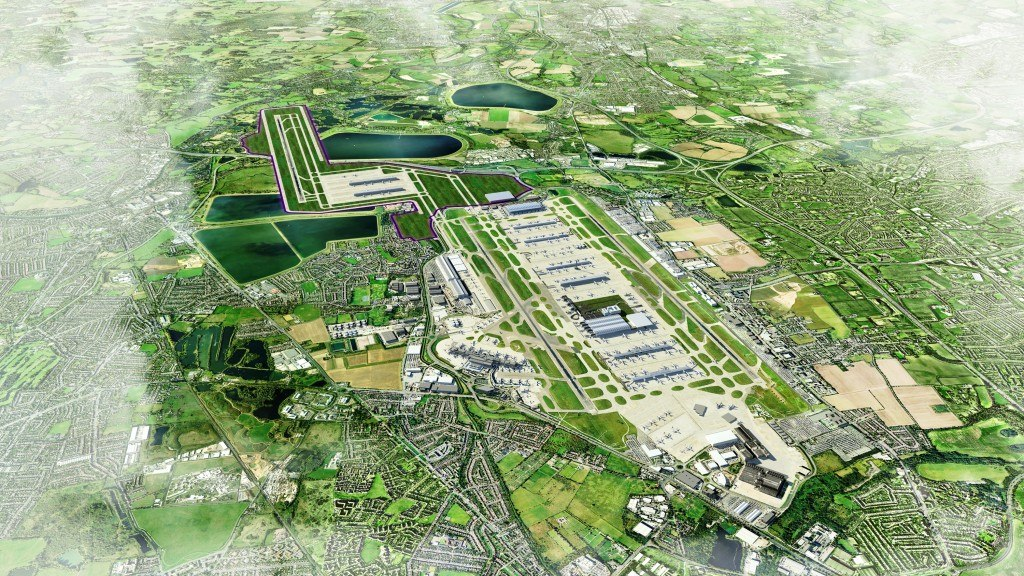 Heathrow Airport Third Runway South West Option