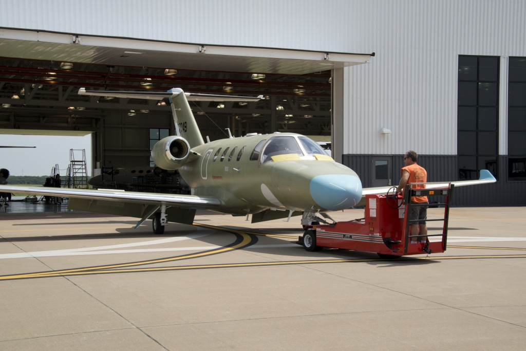 Cessna Citation M2 business jet takes its first flight