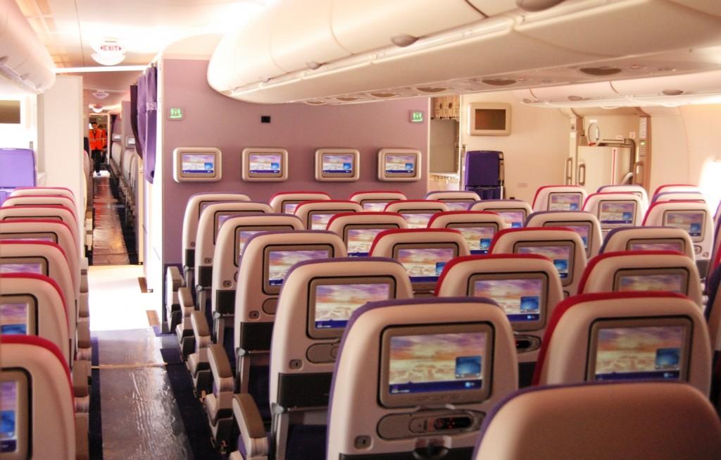 Thai Airways A380 Economy seating