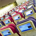 Thai Airways Boeing 747-400 Economy Cabin Seats and IFE Touch Screens