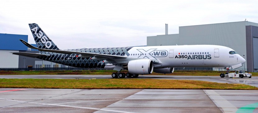 Third Airbus A350 XWB test aircraft ready with new Carbon livery