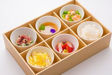 JAL First Class inflight food Hors d'oeuvre