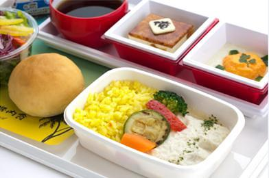 JAL Premium Economy inflight food Hawaii route