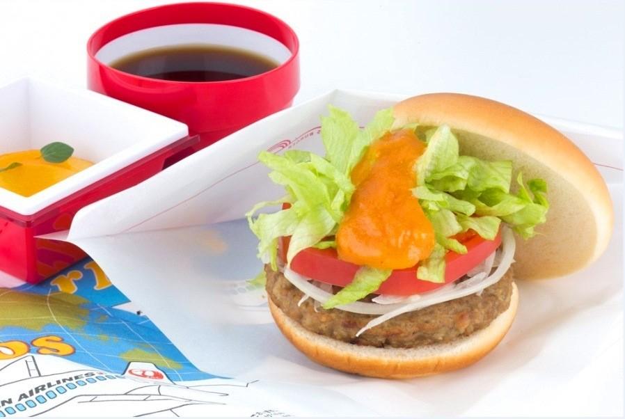 JAL inflight food - Vegetable MOS Burger