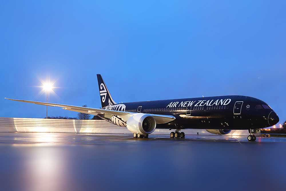 Air New Zealand 787-9 black Koru livery