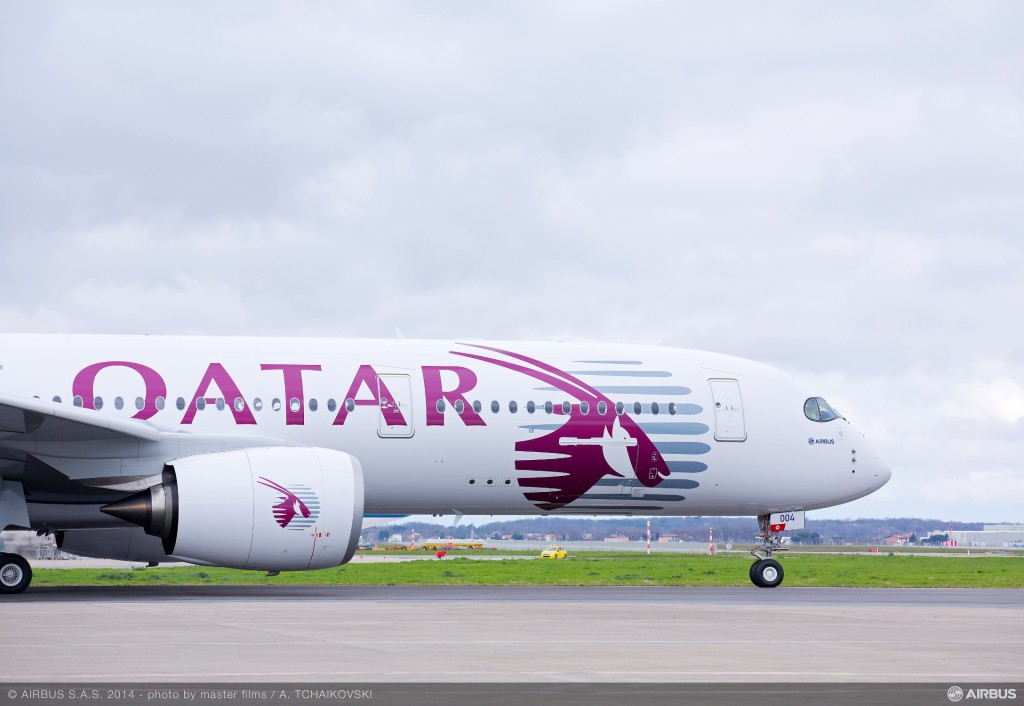 Qatar Airways is the first customer of the new Airbus A350 long-range jet
