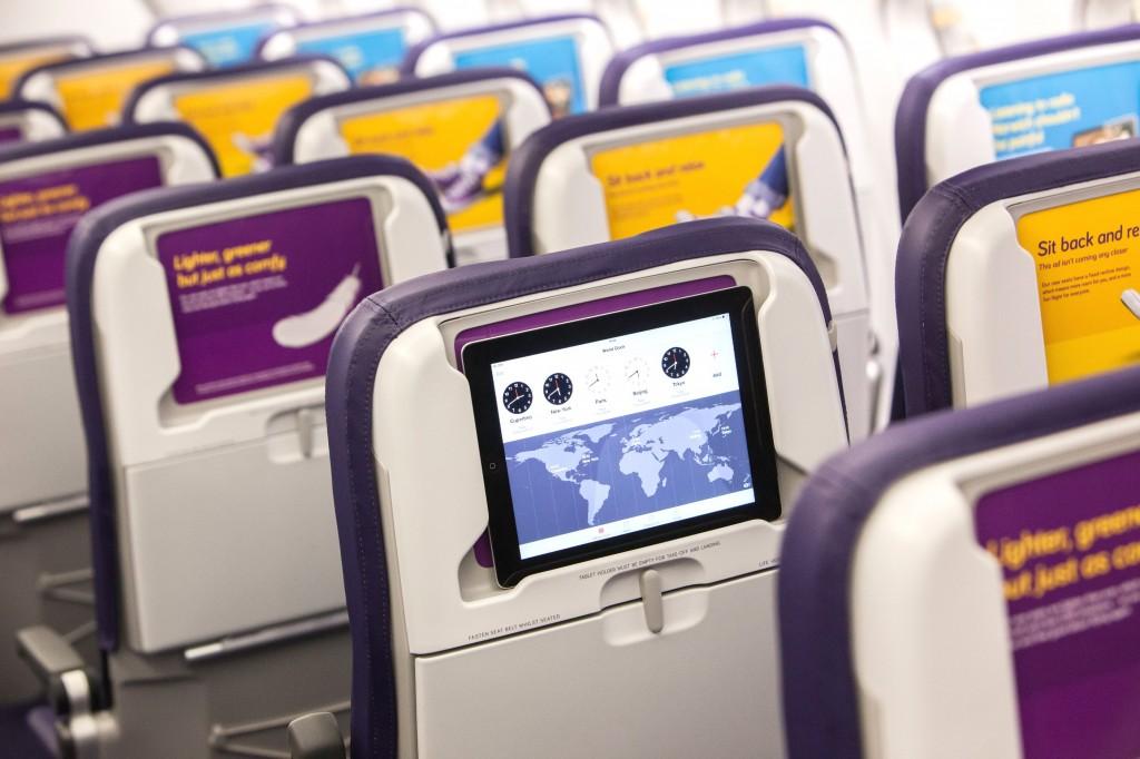 Monarch airlines seat back tablet holder