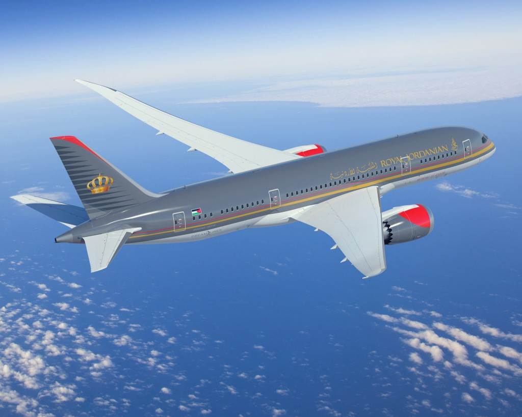 First of seven Royal Jordanian 787 Dreamliners