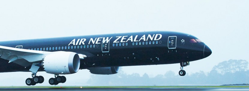 The first Air New Zealand 787-9 touches down in Auckland
