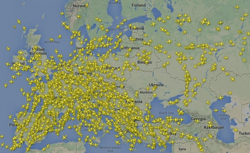 Ukraine airspace after loss of MH17