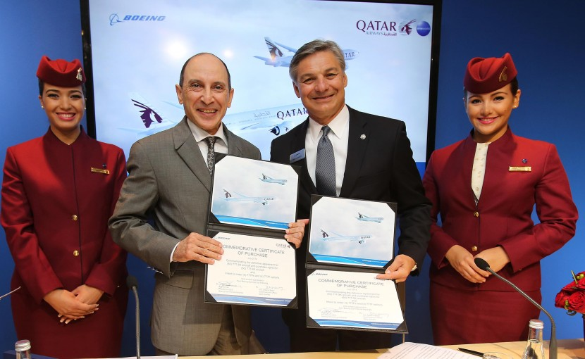 Qatar Airways increase Boeing 777-9X order at Farnborough