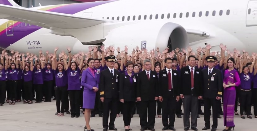 Thai Airways gets its first Beoing 787 Dreamliner