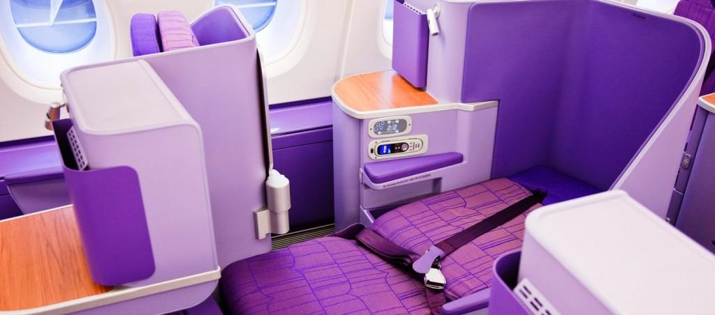 Business Travel with Thai Airways A380 Silk Class Cabin
