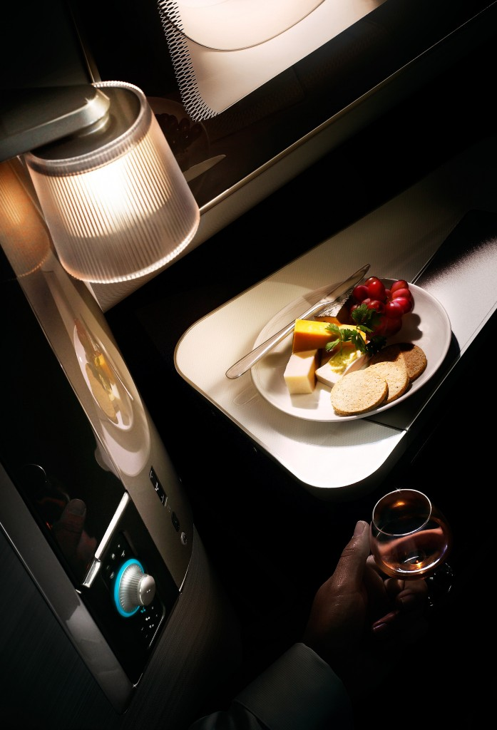 Upgrade to British Airways First suite with side table