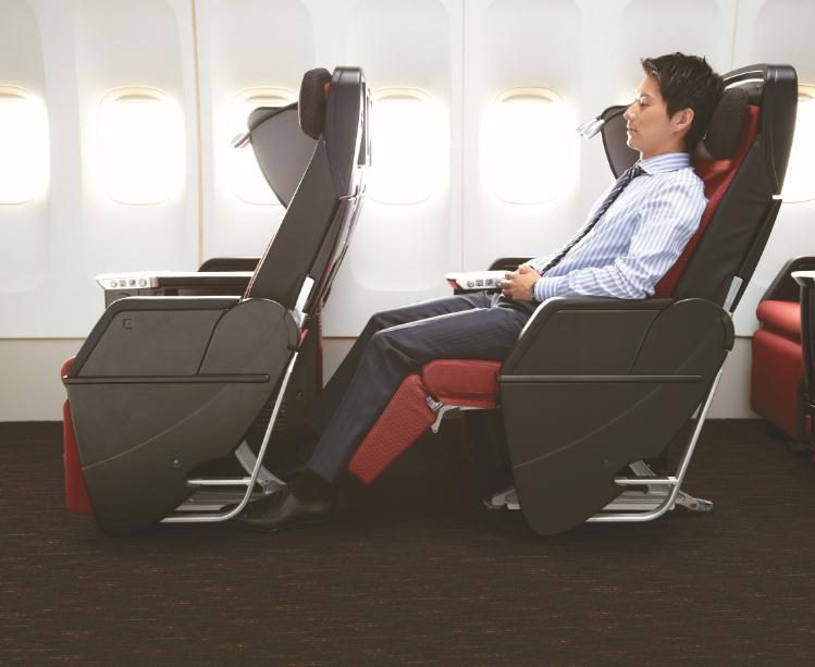 JAL 787 Premiun Economy Seat Legroom