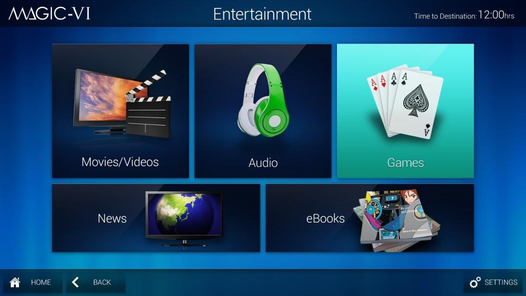 JAL new in-flight entertainment system (Magic-VI)