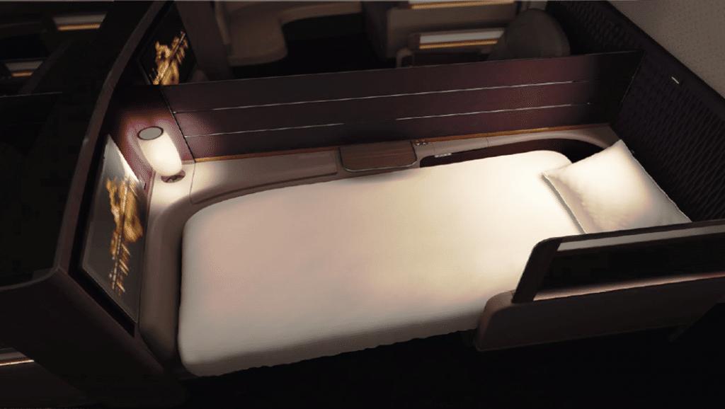 Qatar Airways A380 First Class Bed