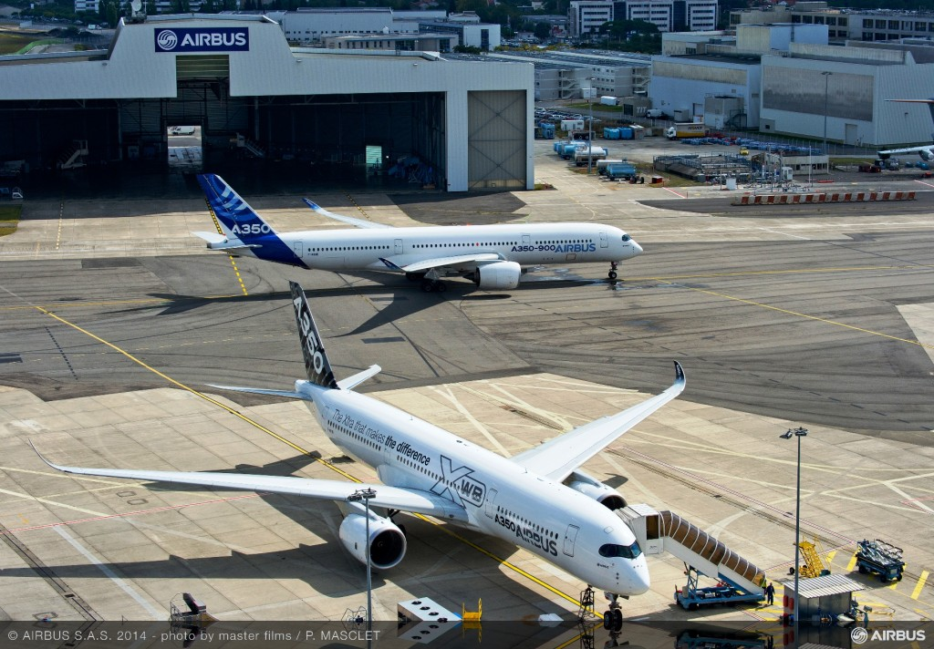 Two Airbus A350 XWB Test Aircraft