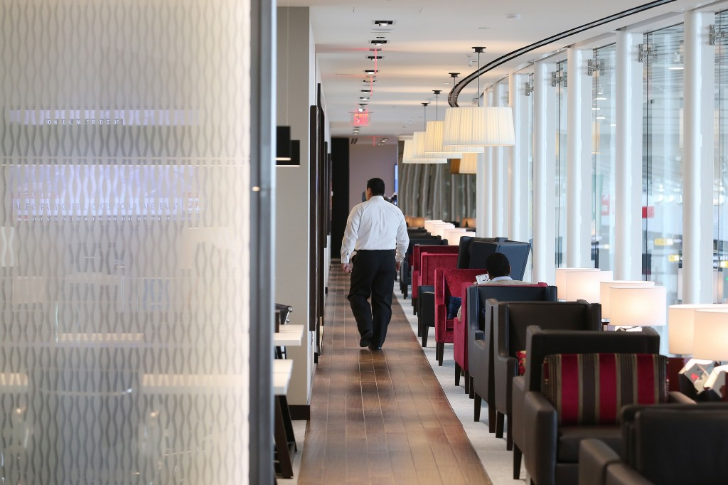BA's new airport lounge at Washington for First and Club World passengers