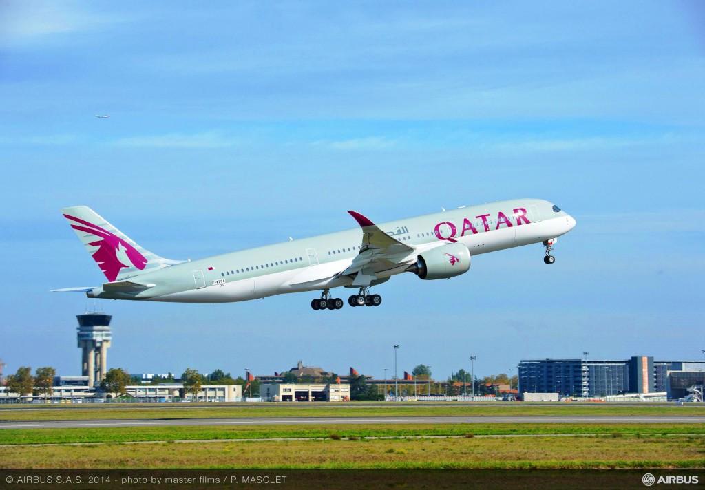 Qatar Airways A350 XWB Maiden Flight