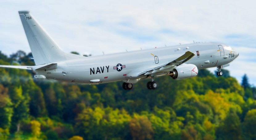 The U.S. Navy take delivery of their 18th P-8A Poseidon from Boeing