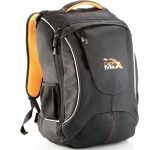 Orange and black flight approved backpack hand luggage
