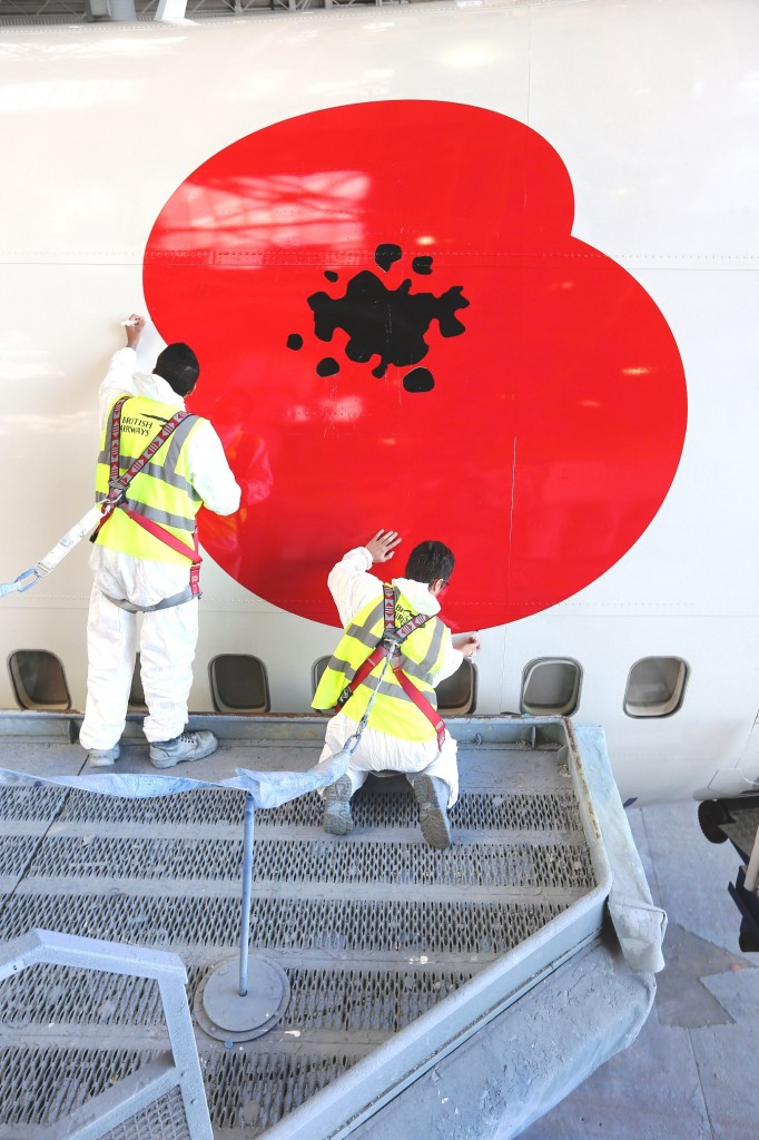 Adding the Remembrance Poppy to the BA 747