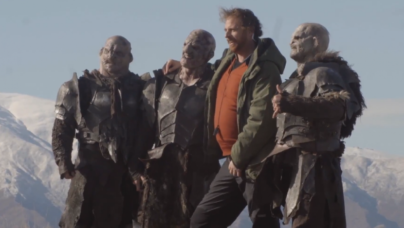 Behind the scenes of the Air New Zealand safety video #airnzhobbit