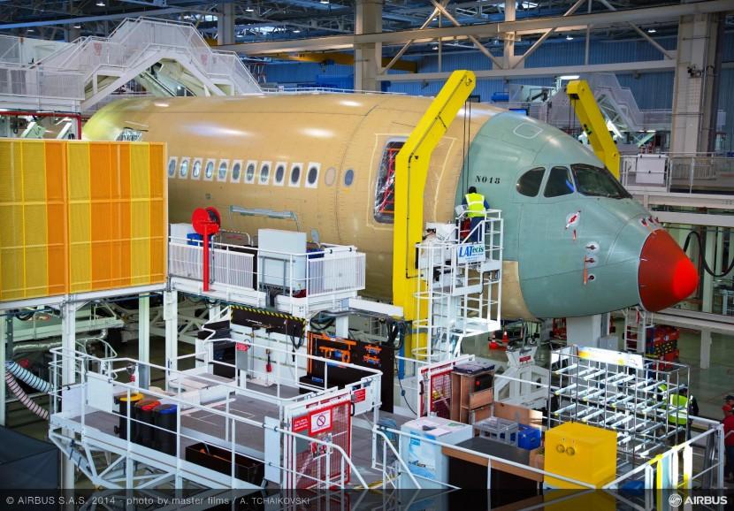 Finnair's first Airbus A350 XWB begins to take shape