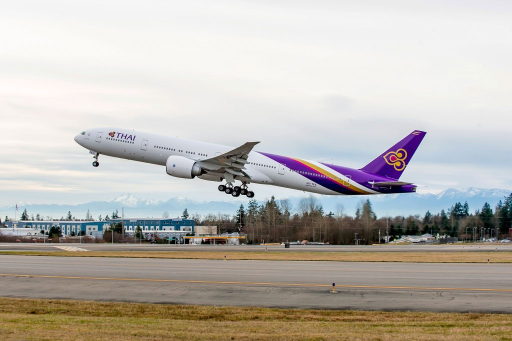 The 75th direct delivery aircraft for Thai Airways a Boeing 777-300ER