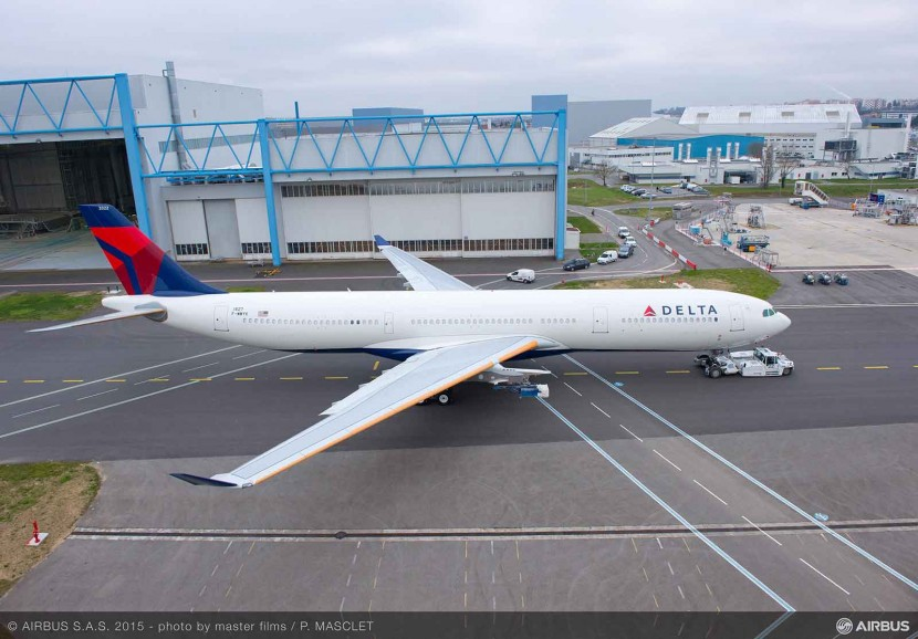 Most advanced #A330 rolled out from paintshop in Delta Air Lines livery