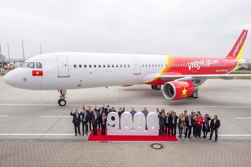 Celebrations as Airbus delivered its 9,000th aircraft