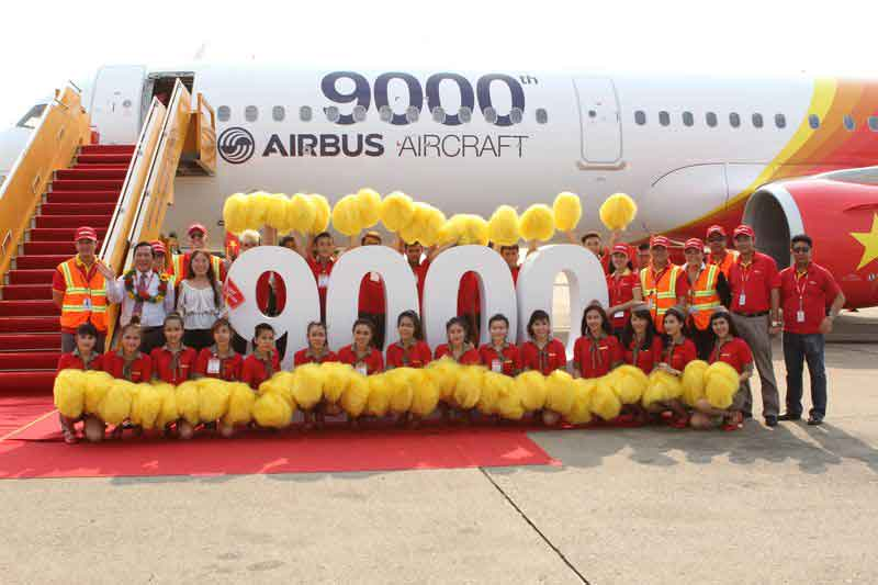 VietJetAir first A321 arrives in Ho Chi Minh City- -Airbus 9000th aircraft delivery