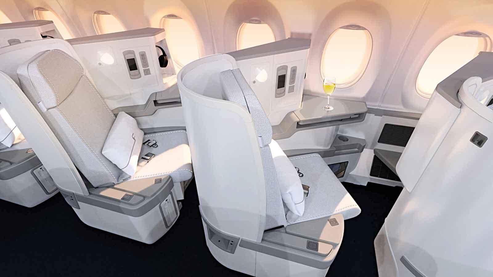 Finnair A350 Business Class Cabin Seats