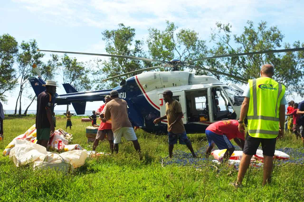 The Airbus Helicopters Foundation provides aid in Vanuatu following Tropical Cyclone Pam with an AS350 and BK117