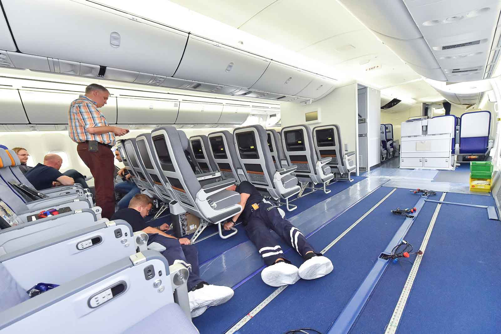 New Lufthansa Premium Economy Class Cabin Seats Being Fitted on a 747