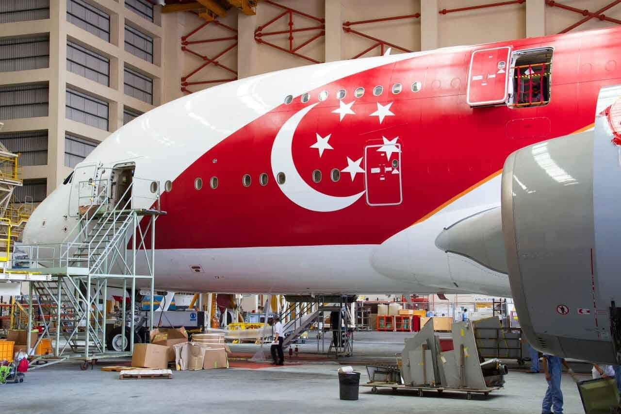 Singapore Airlines A380 fitting Golden Jubilee livery #avgeek #SQavgeek #SG50withSIA