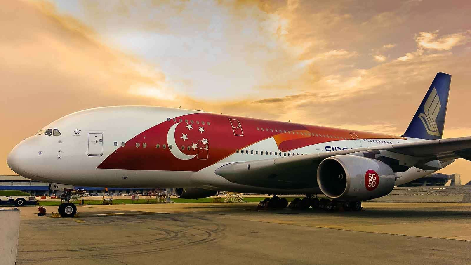 Singapore Airlines Golden Jubilee livery for A380 aircraft #avgeek #SQavgeek #SG50withSIA