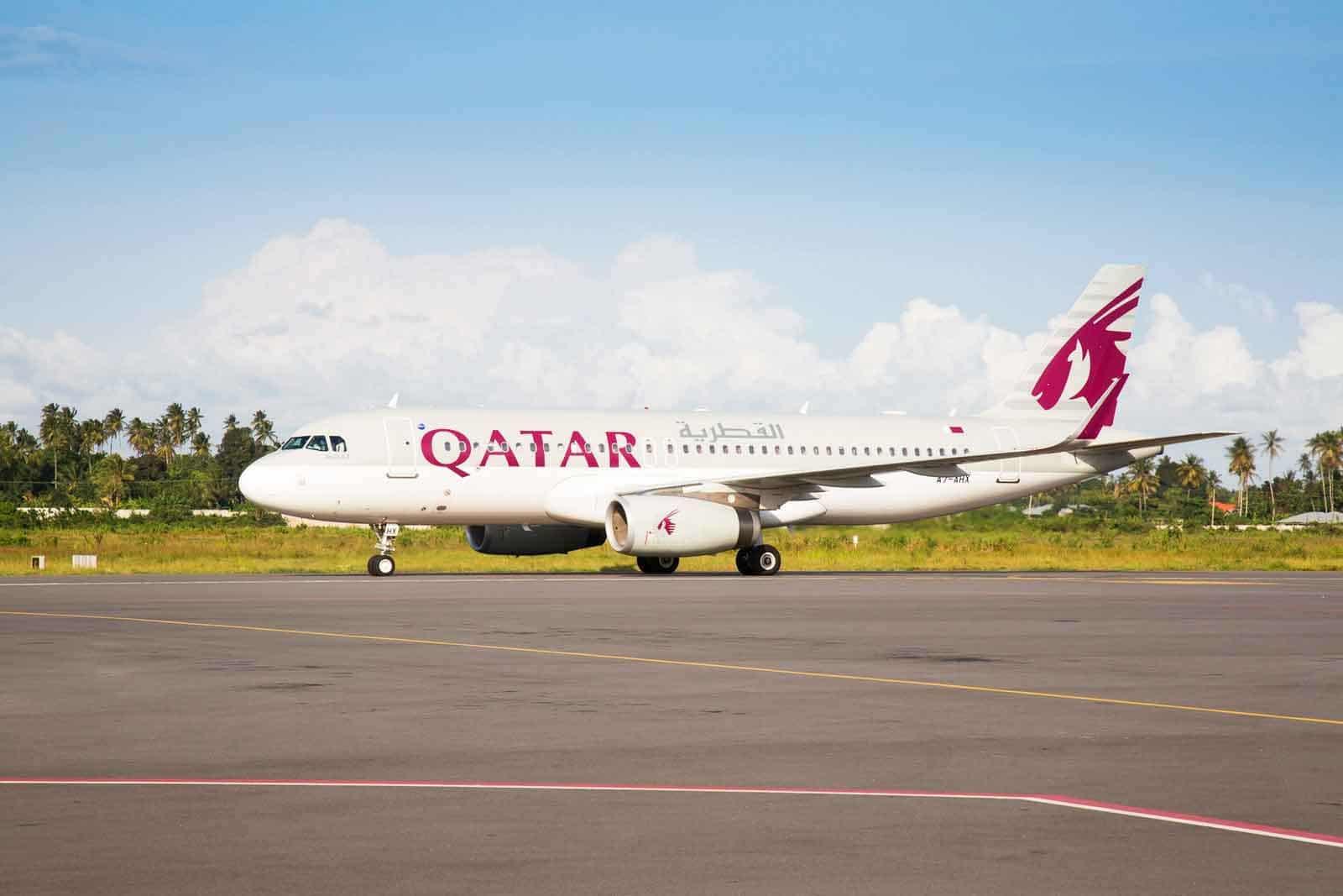 Qatar Airways' A320 inaugural flight from Doha to Zanzibar lands at Abeid Amani Karume International Airport