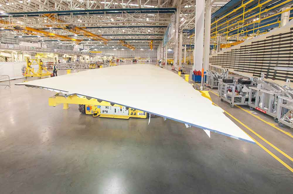 Airbus A350-1000 wing cover goes into production