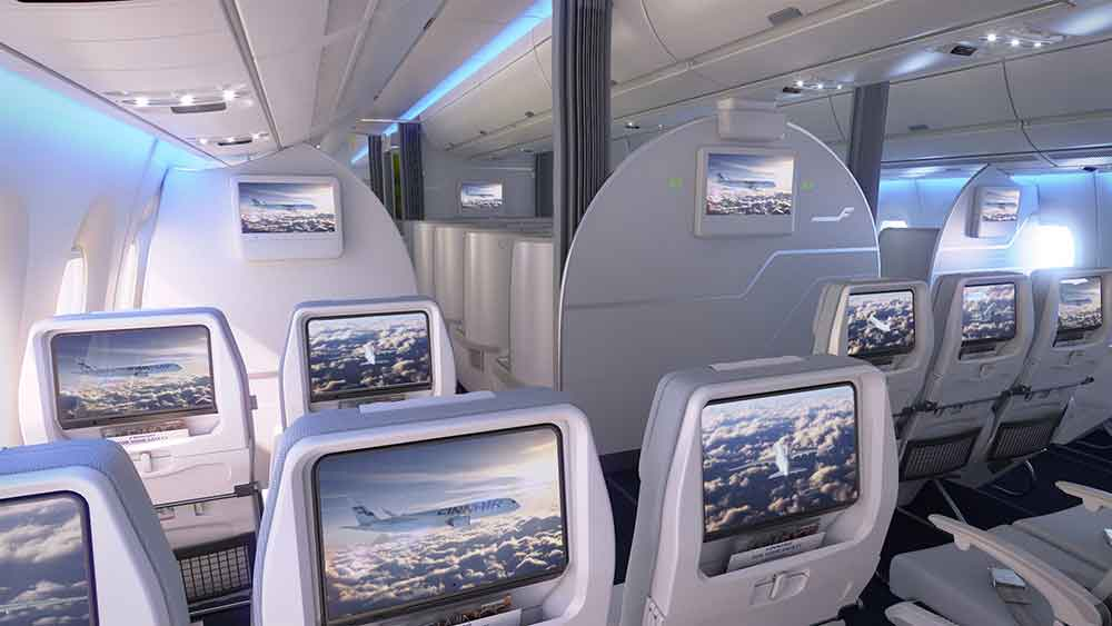Finnair A350 XWB Economy Class Cabin