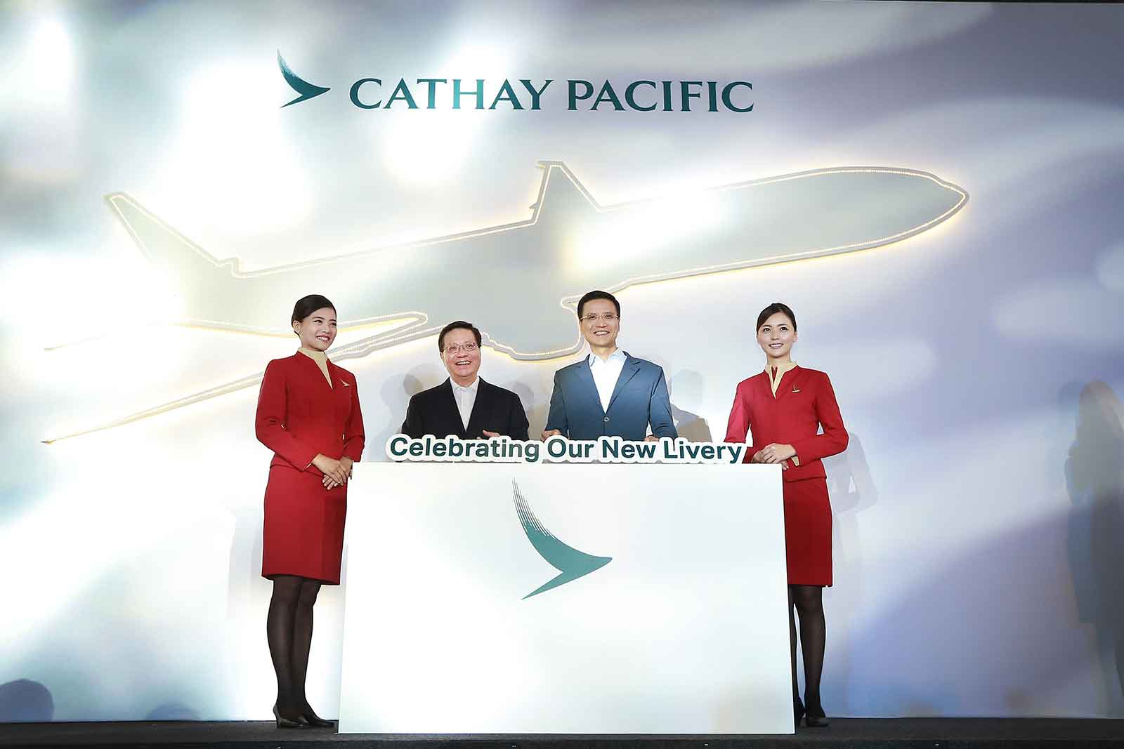 Cathay Pacific celebrate new livery
