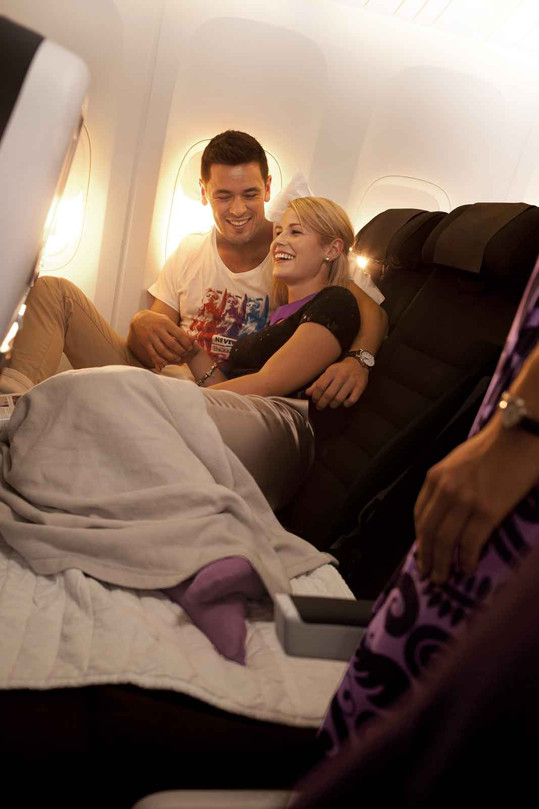 Air New Zealand economy skycouch on Auckland Buenos Aires flights