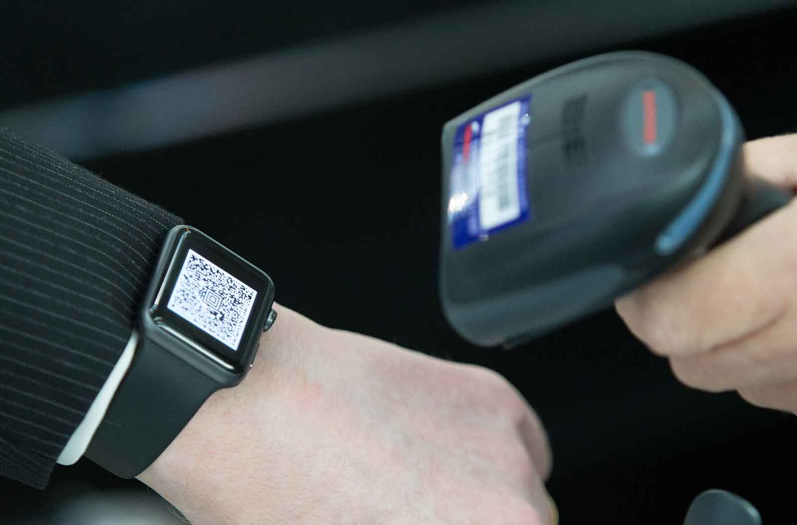 BA's app for the Apple Watch and airport scanner