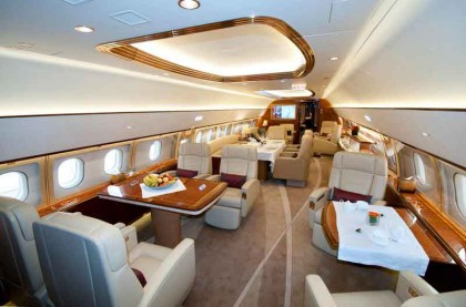 Airbus displays ACJ319 corporate jet cabin at ABACE show