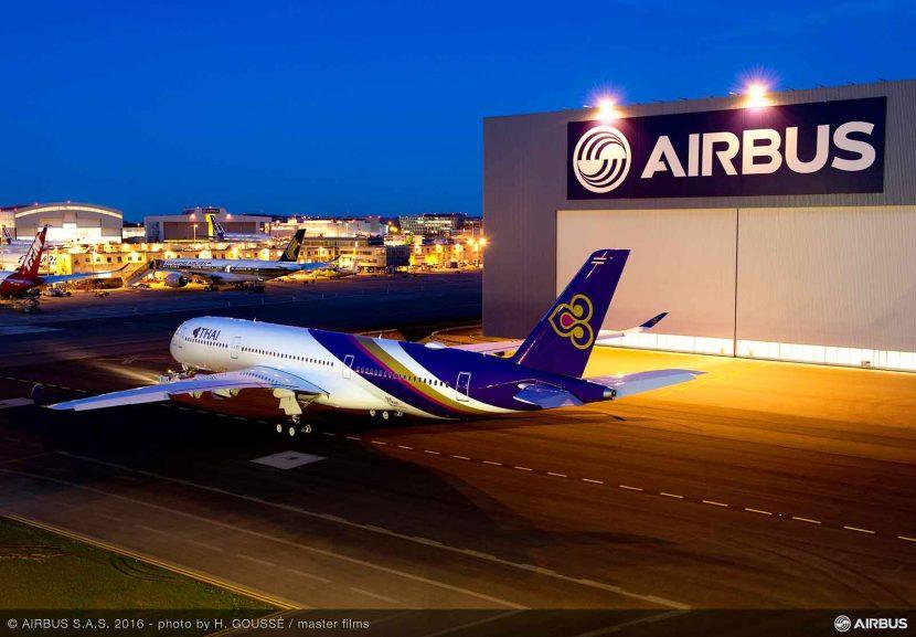 First Thai Airways A350 leaves the Airbus Paintshop #NotLongNow #Avgeek