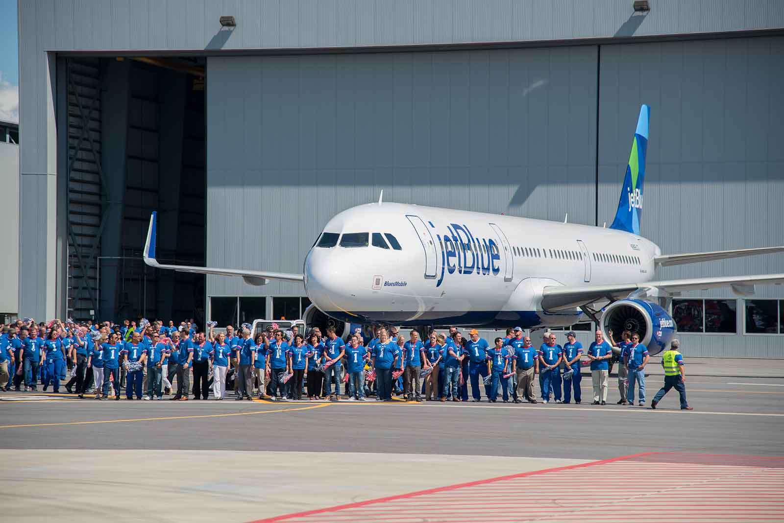 The JetBlue USA Airbus delivery