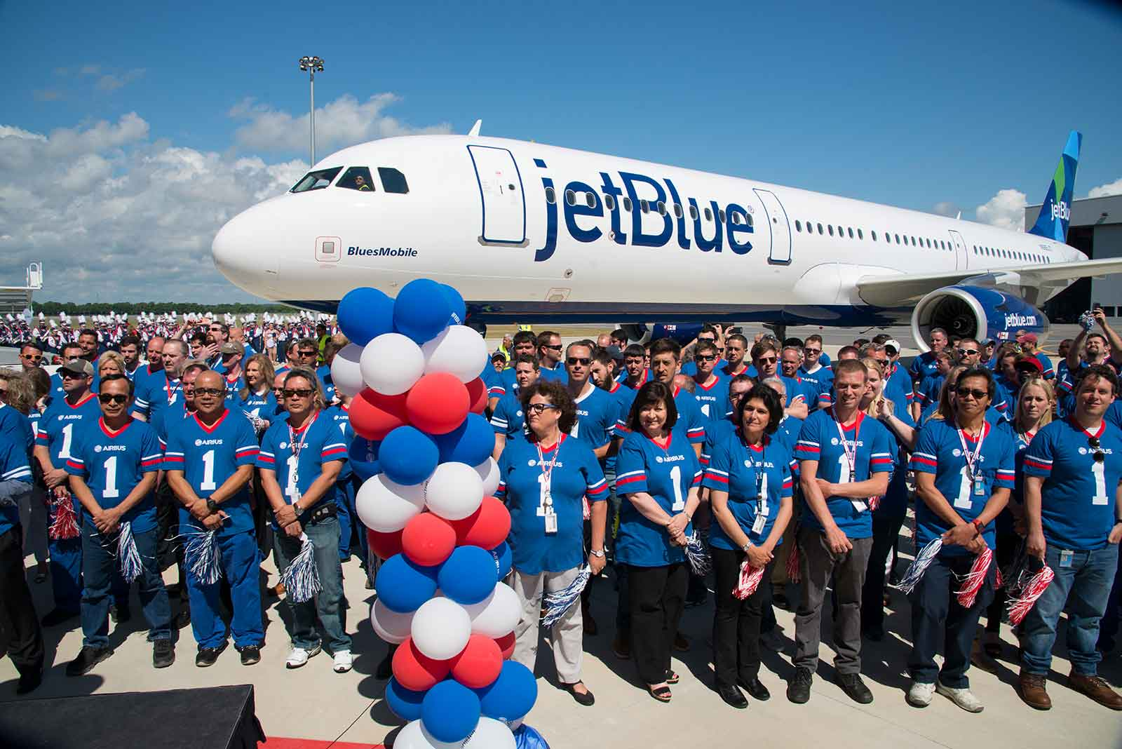 The USA Airbus team at JetBlue Delivery