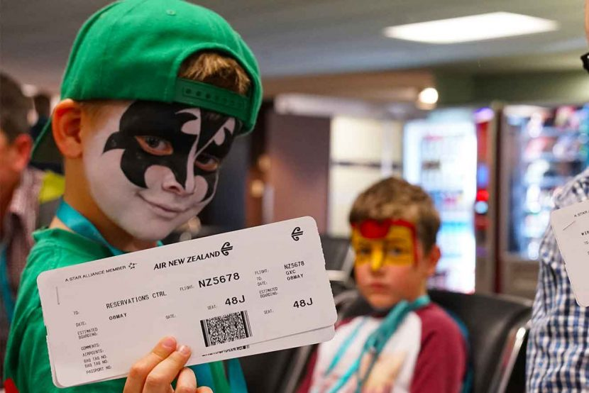 Air New Zealand Koru Care flight jets kids around the country